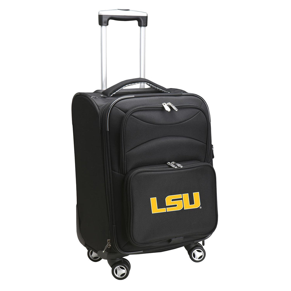 Louisiana Tigers Luggage Carry-On 21in Spinner Softside Nylon-BLACK