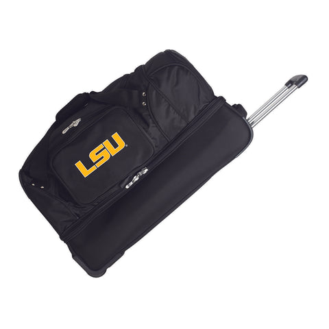 Louisiana Tigers 27in Wheeled Duffel Nylon bag-BLACK