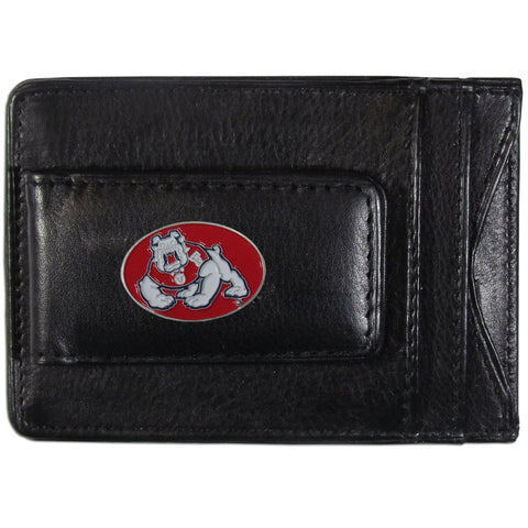 Fresno St. Bulldogs Leather Cash & Cardholder