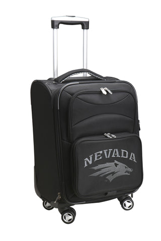 Nevada Wolf Pack Luggage Carry-On 21in Spinner Softside Nylon-BLACK