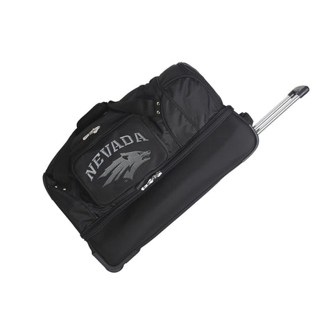 Nevada Wolf Pack 27in Wheeled Duffel Nylon bag-BLACK