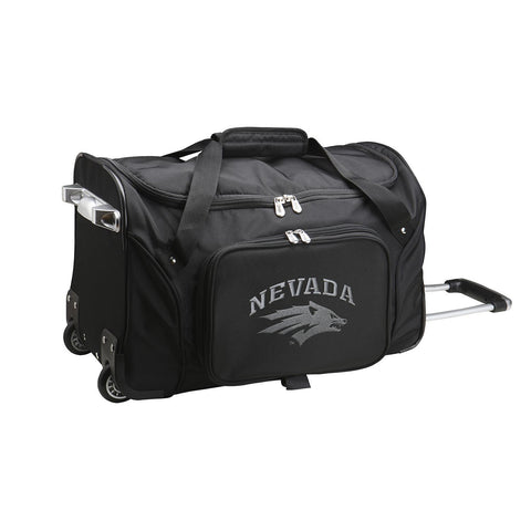 Nevada Wolf Pack 22in Wheeled Duffel Nylon Bag-BLACK