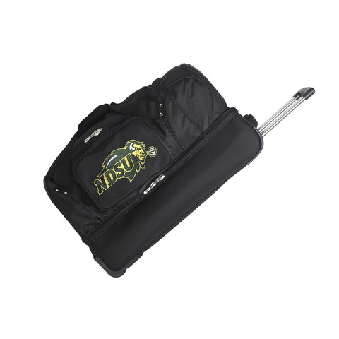 North Dakota State Bison 27in Wheeled Duffel Nylon bag-BLACK