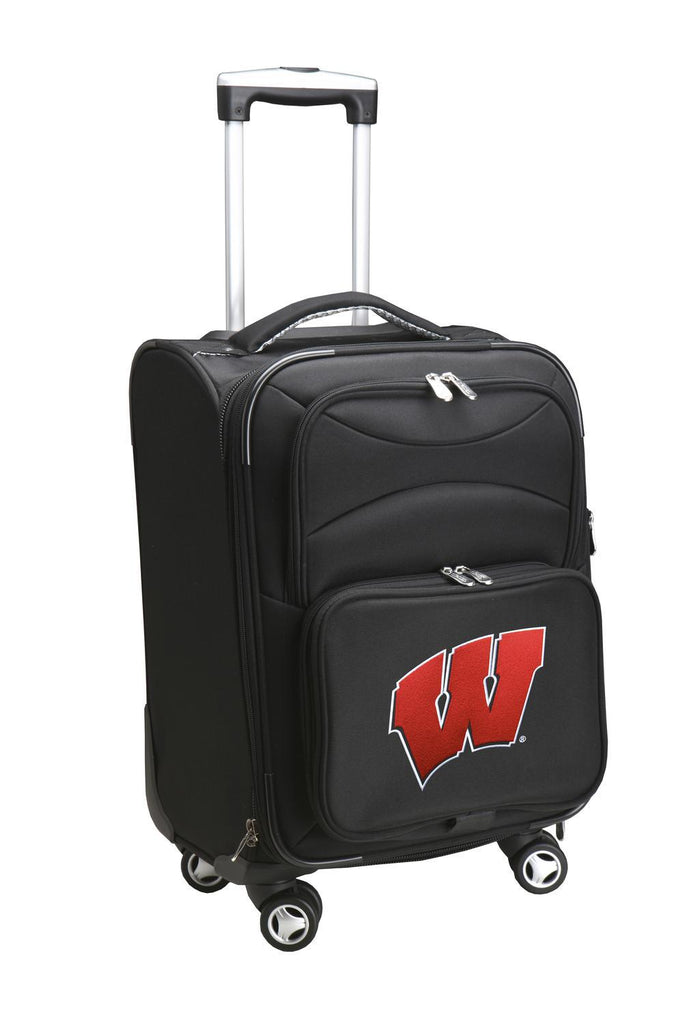 Wisconsin Badgers Luggage Carry-On 21in Spinner Softside Nylon-BLACK