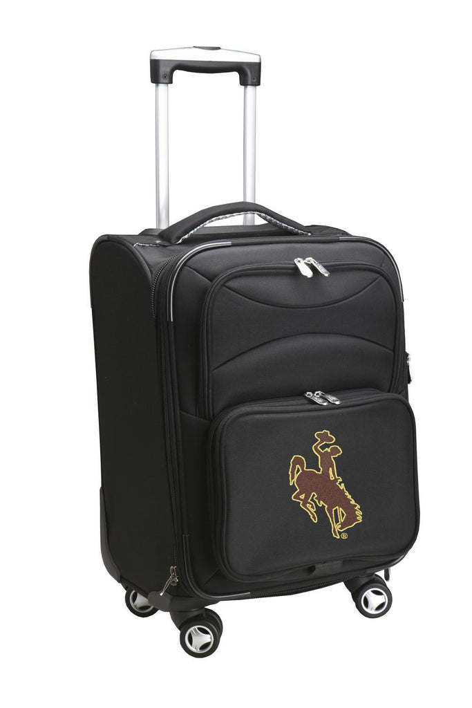 Wyoming Cowboys Luggage Carry-On 21in Spinner Softside Nylon-BLACK