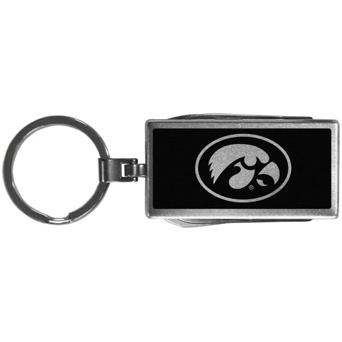 Iowa Hawkeyes   Multi tool Key Chain Black