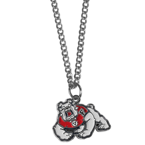 Fresno St. Bulldogs Chain Necklace - with Small Charm
