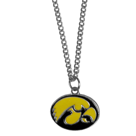 Iowa Hawkeyes   Chain Necklace with Small Charm