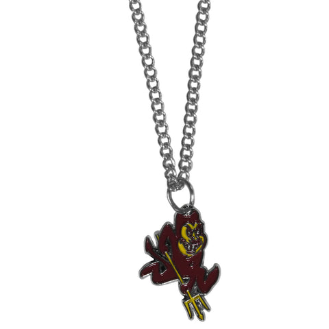 Arizona St. Sun Devils Chain Necklace - with Small Charm