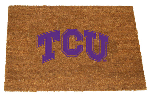 TCU Horned Frogs  Colored Logo Door Mat