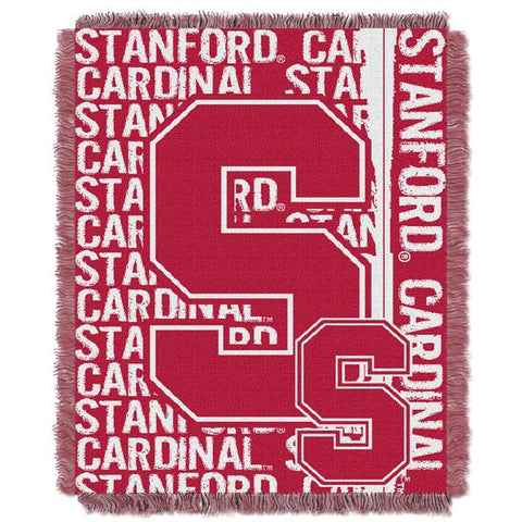"Stanford Cardinal NCAA Double Play 46""x 60"" Triple Woven Jacquard Throw"