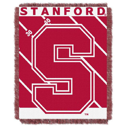"Stanford Cardinal NCAA Half Court Baby 36""x 46"" Triple Woven Jacquard Throw"