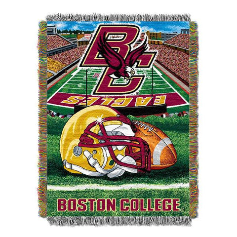 "Boston College Eagles NCAA Home Field Advantage 48""x 60"" Woven Tapestry Throw"