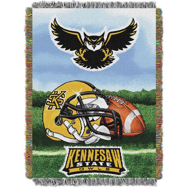 "new arrival 94ac4 b8e27 Kennesaw State NCAA Home Field Advantage 48""x 60"" Woven Tapestry Throw"