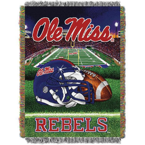 "Mississippi Rebels NCAA Home Field Advantage 48""x 60"" Woven Tapestry Throw"