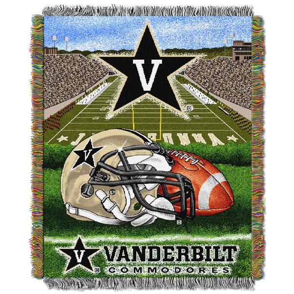 "Vanderbilt Commodores NCAA Home Field Advantage 48""x 60"" Woven Tapestry Throw"