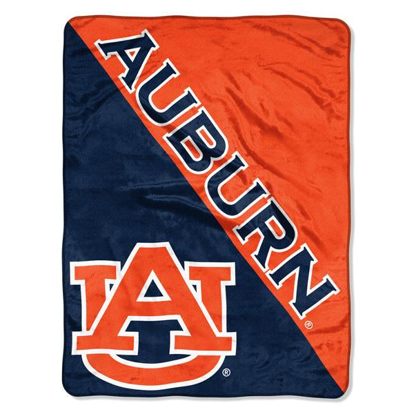 Auburn Tigers NCAA Halftone 46 x 60  Micro Raschel Throw
