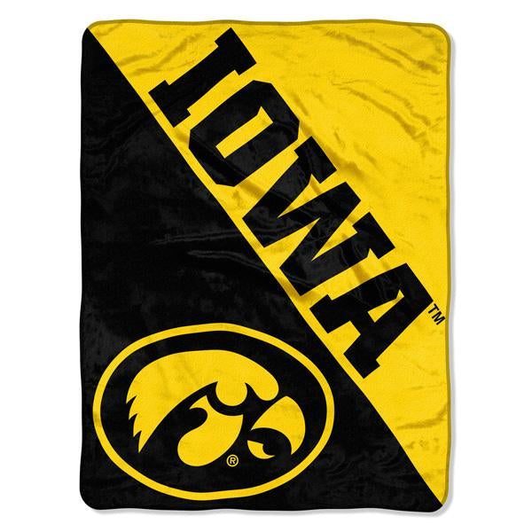 Iowa Hawkeyes NCAA Halftone 46 x 60  Micro Raschel Throw