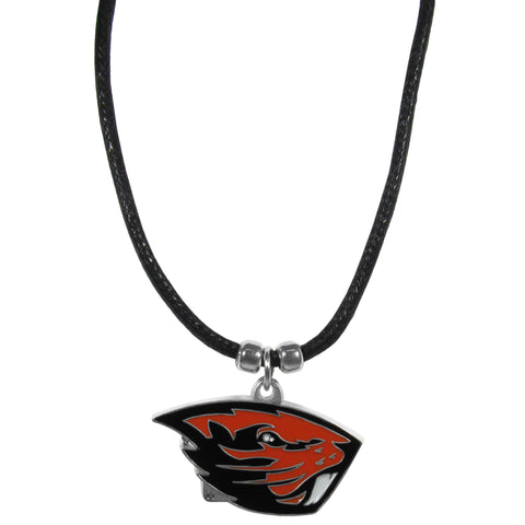Oregon St. Beavers Cord Necklace