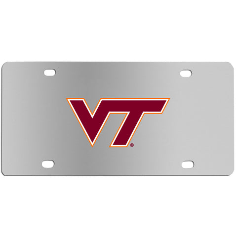 Virginia Tech Hokies   Steel License Plate Wall Plaque