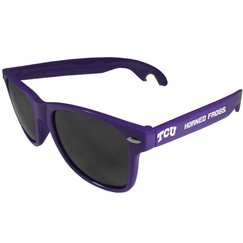 TCU Horned Frogs   Beachfarer Bottle Opener Sunglasses Purple