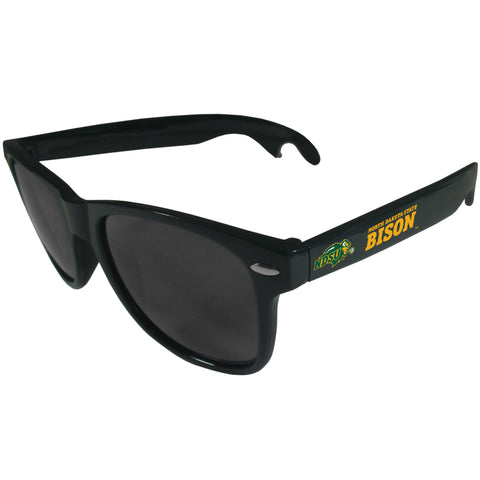 North Dakota State Bison   Beachfarer Bottle Opener Sunglasses Dark Green