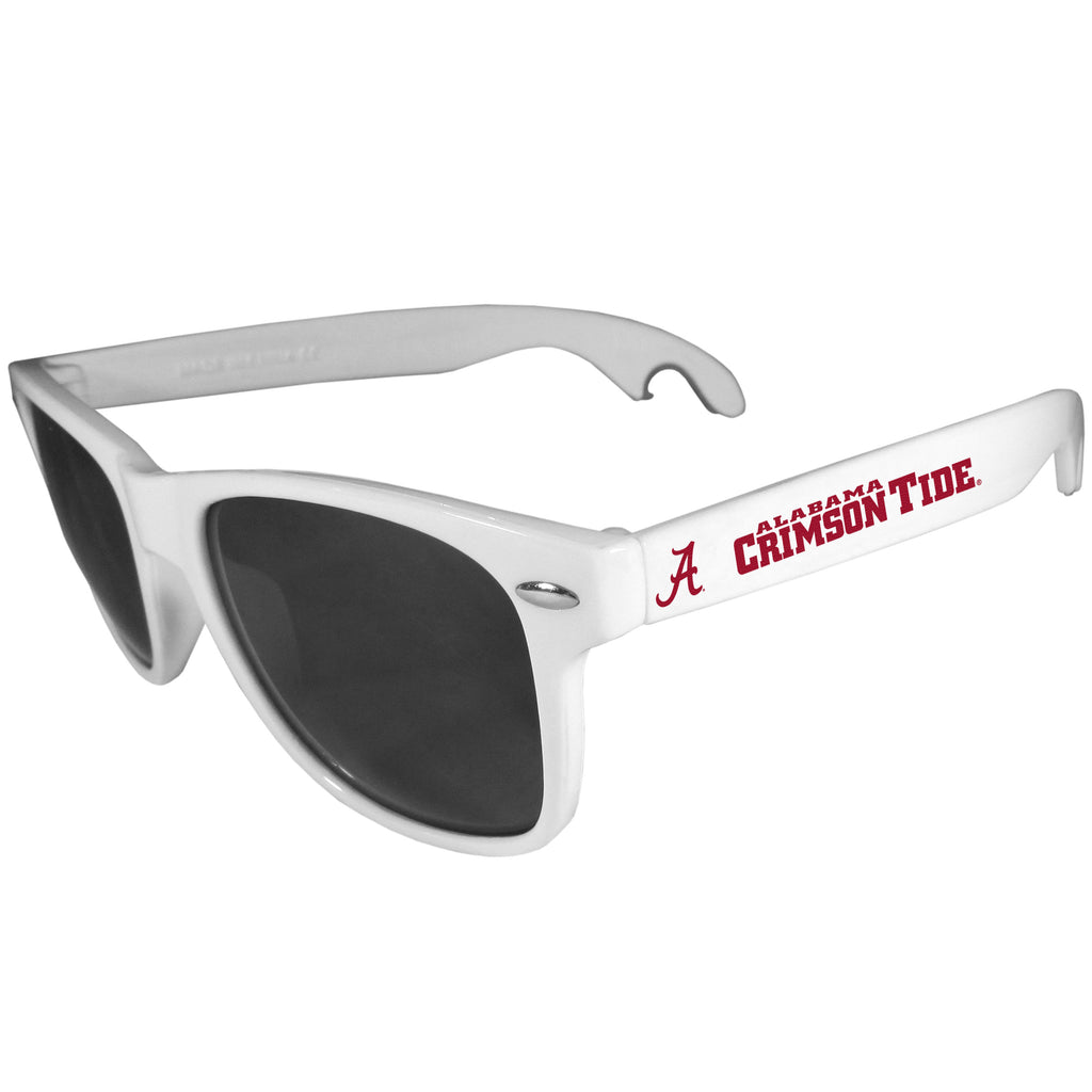 Alabama Crimson Tide   Beachfarer Bottle Opener Sunglasses White