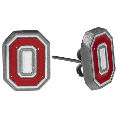 Ohio St. Buckeyes Stud Earrings