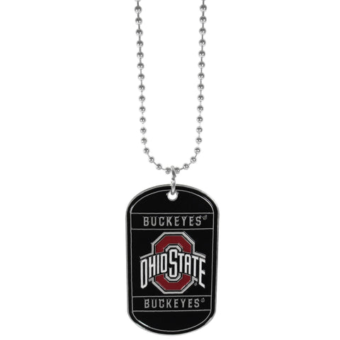 Ohio St. Buckeyes Tag Necklace