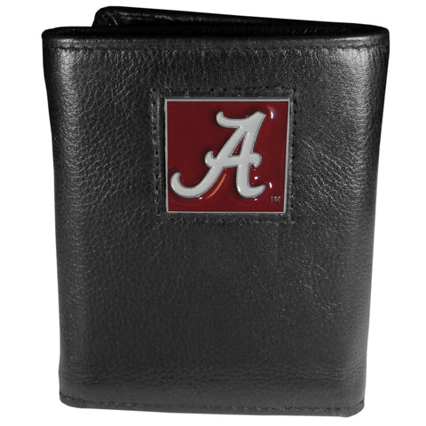 Alabama Crimson Tide   Deluxe Leather Tri fold Wallet