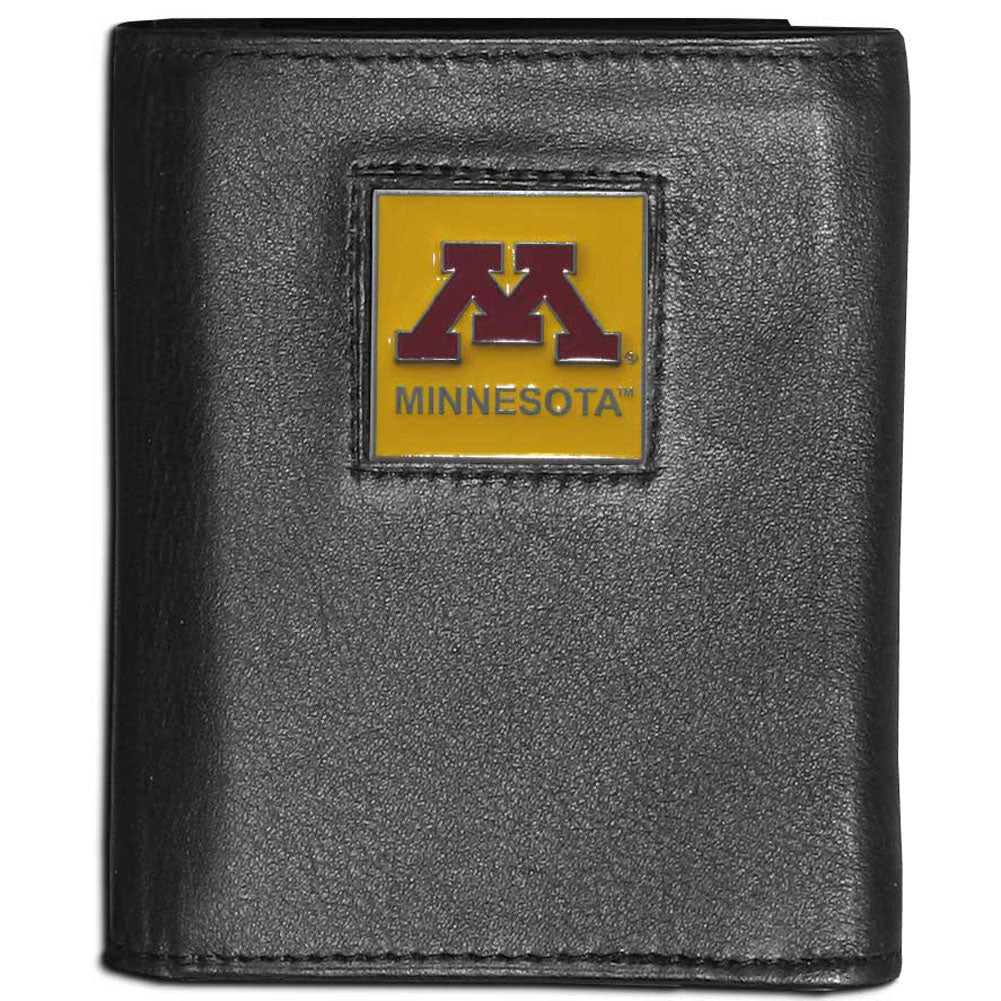 Minnesota Golden Gophers Leather Trifold Wallet