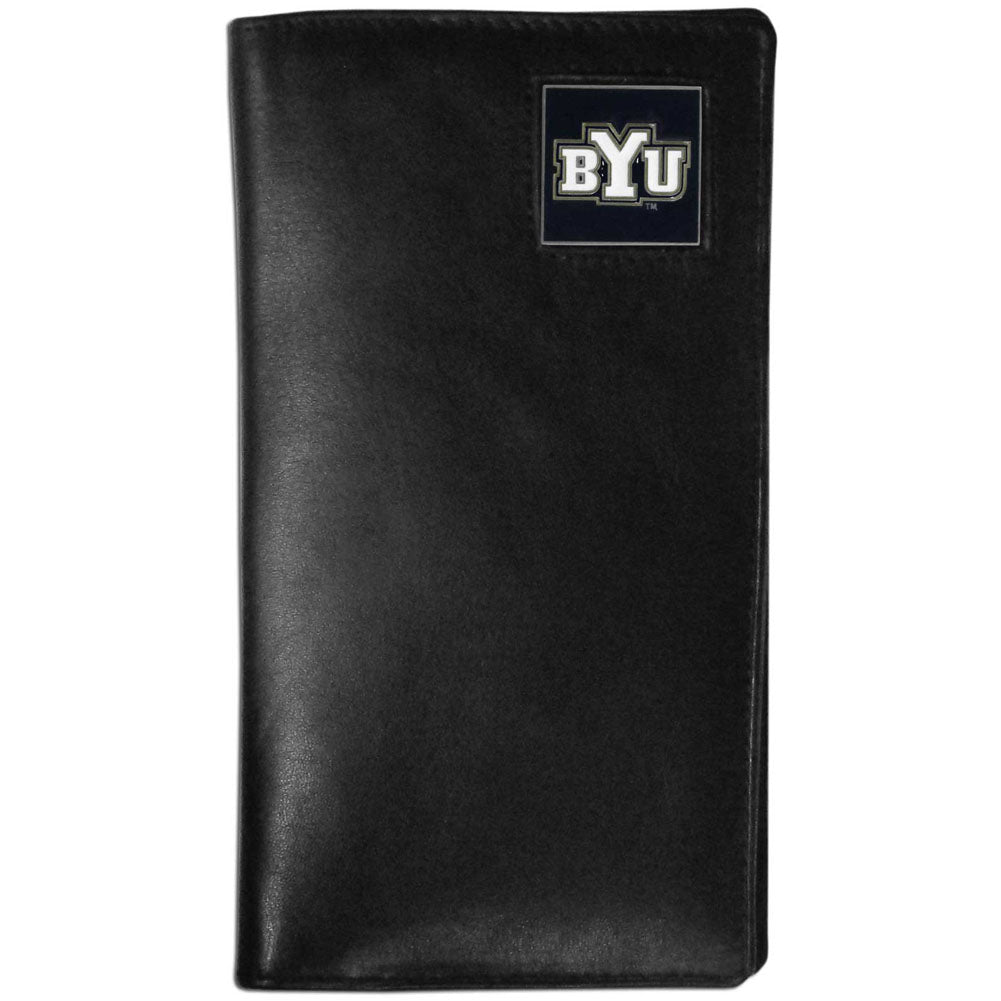 BYU Cougars Leather Tall Wallet