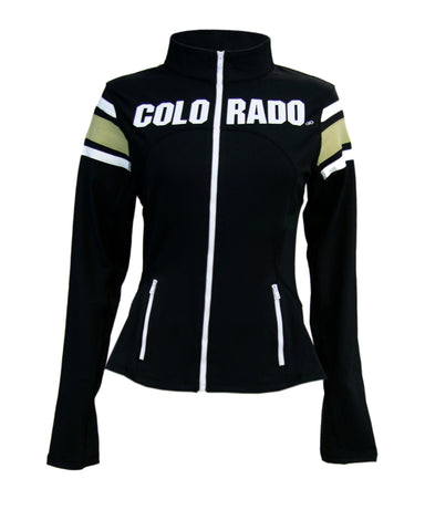 Colorado Buffaloes Women's Yoga Jacket (Black)