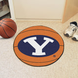 "BYU Basketball Mat 27"" diameter"