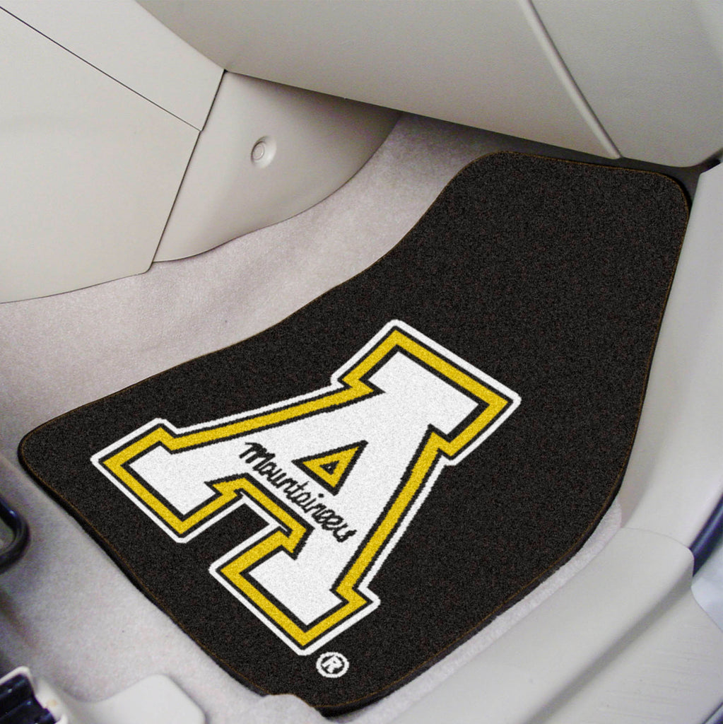 "Appalachian State 2-pc Carpeted Car Mats 17""x27"""