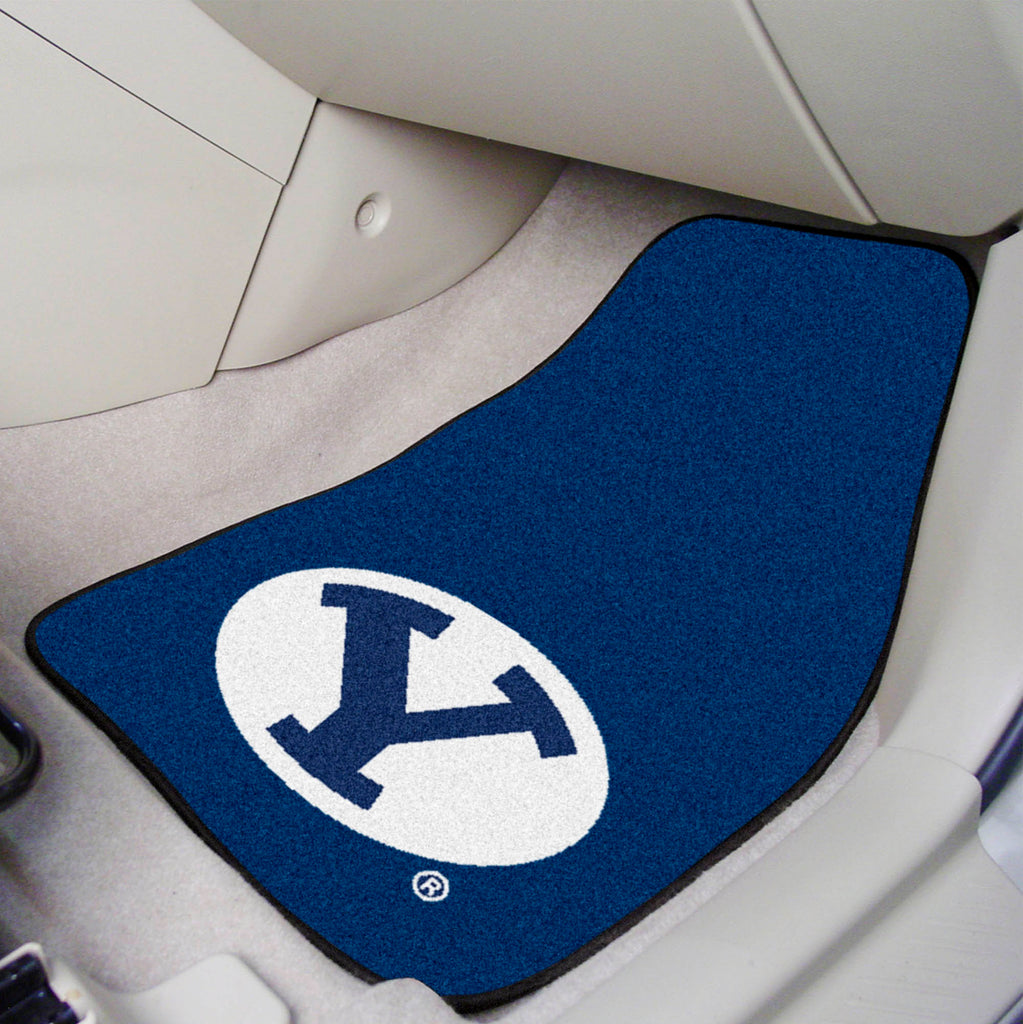 "BYU 2-pc Carpeted Car Mats 17""x27"""