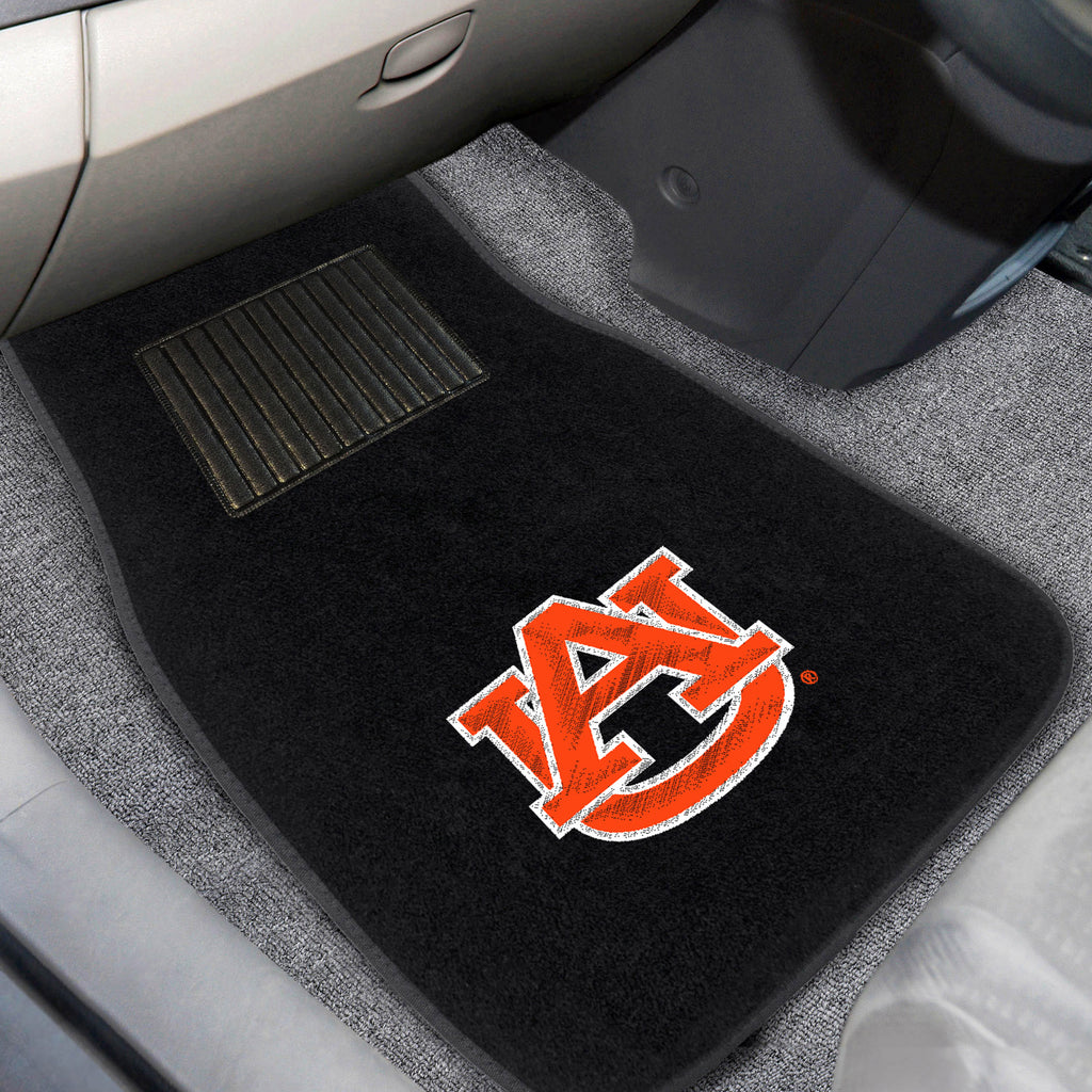 edc126489a Auburn 2-pc Embroidered Car Mats 18