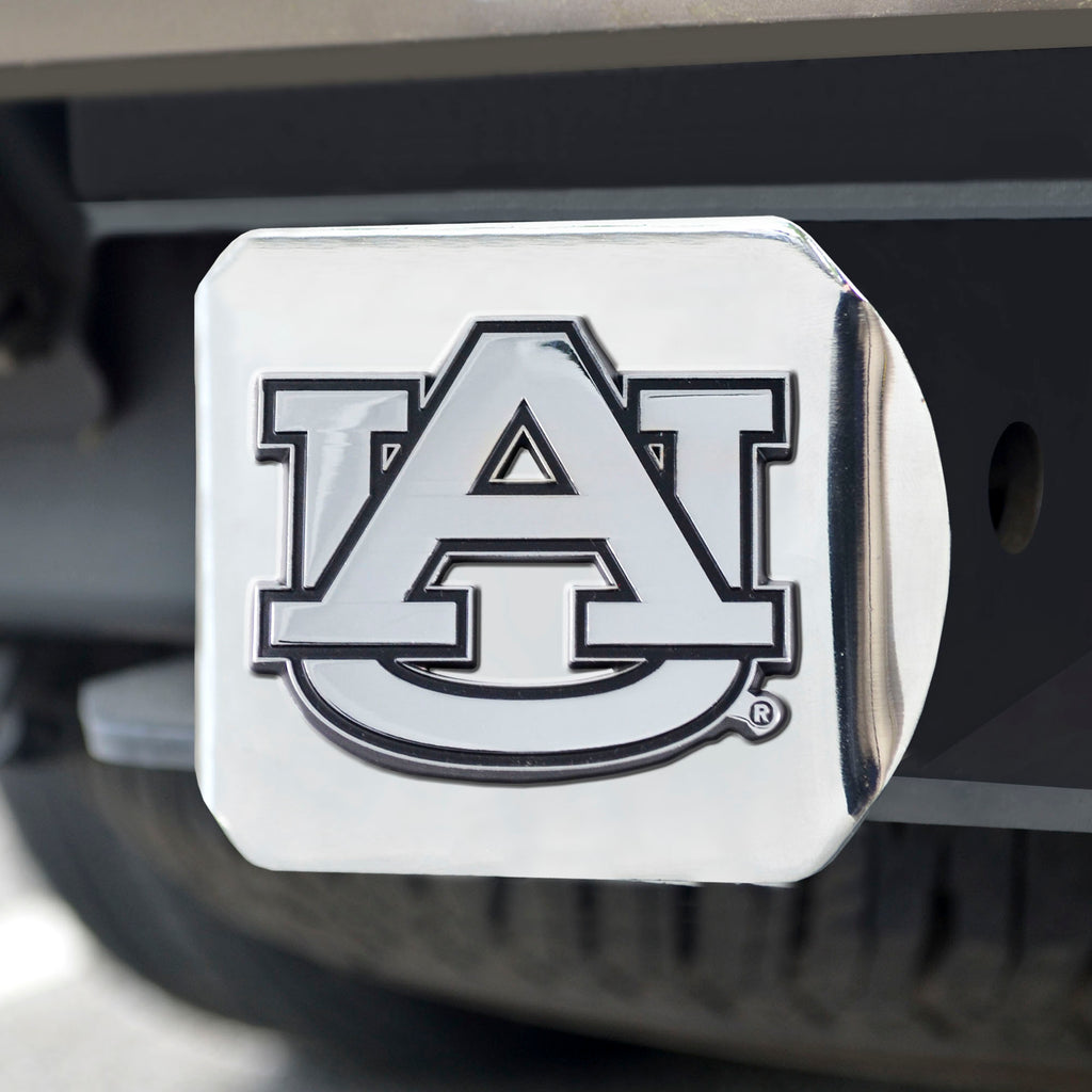 "Auburn Chrome Hitch Cover 4 1/2""x3 3/8"""