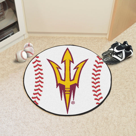 "Arizona State Baseball Mat 27"" diameter"