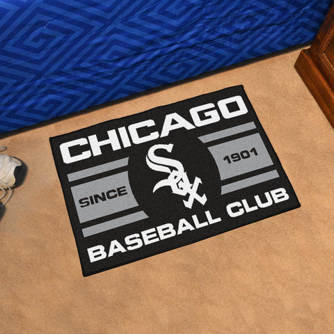 "Chicago White Sox Baseball Club Starter Rug 19""x30"""