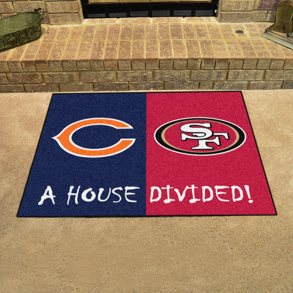 "Bears - 49ers House Divided Rug 33.75""x42.5"""