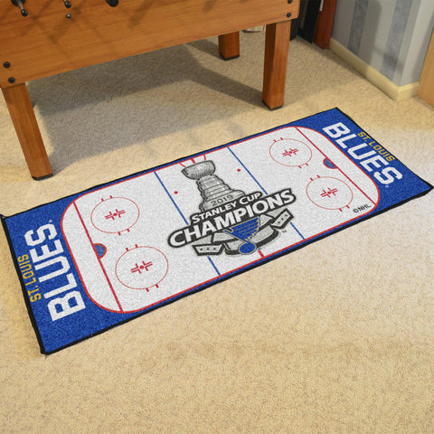 NHL - St. Louis Blues 2019 Stanley Cup Champions Rink Runner
