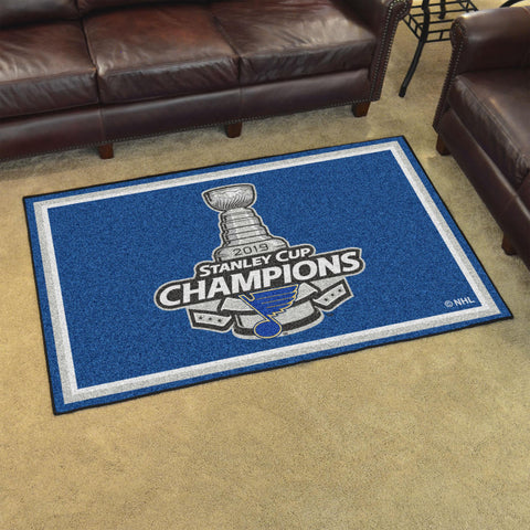 NHL - St. Louis Blues 2019 Stanley Cup Champions 5x8 Rug