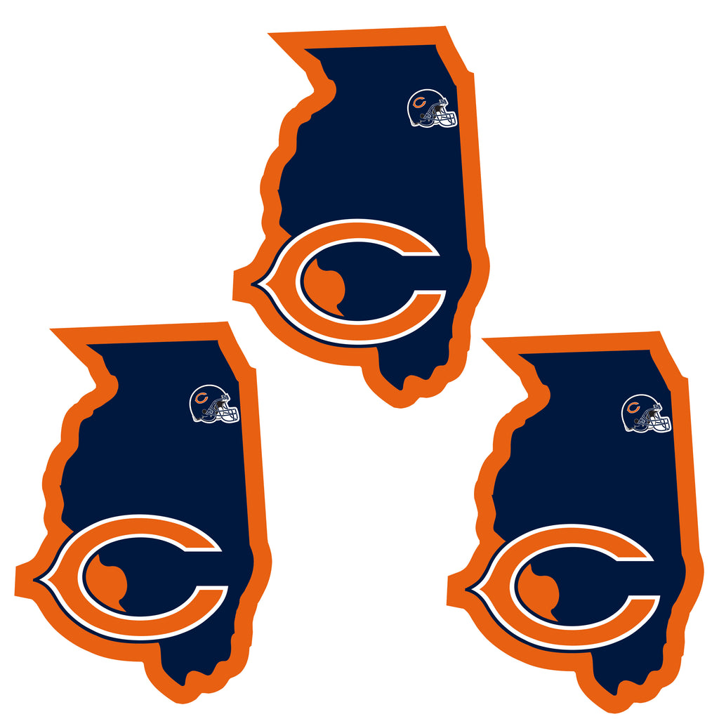 Chicago Bears   Home State Decal 3pk