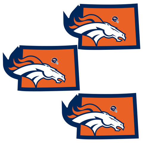 Denver Broncos   Home State Decal 3pk