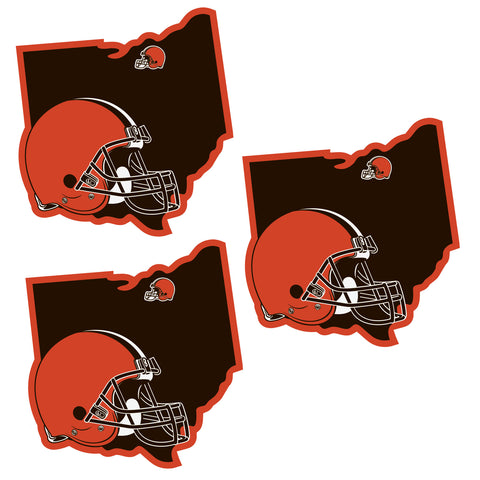 Cleveland Browns   Home State Decal 3pk