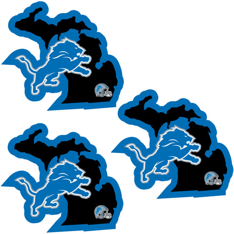 Detroit Lions   Home State Decal 3pk