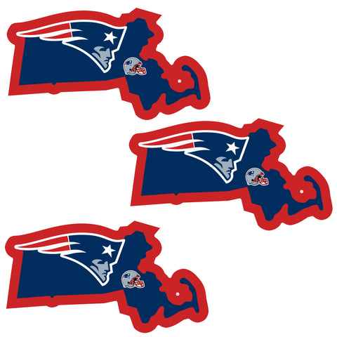 New England Patriots   Home State Decal 3pk
