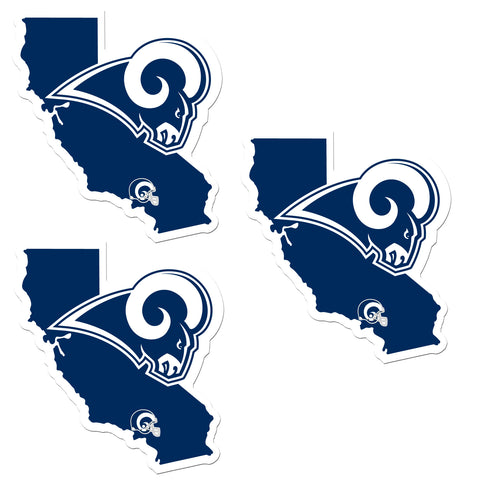 Los Angeles Rams   Home State Decal 3pk