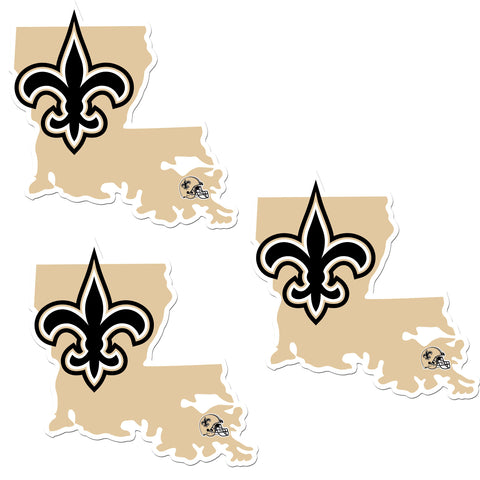 New Orleans Saints   Home State Decal 3pk